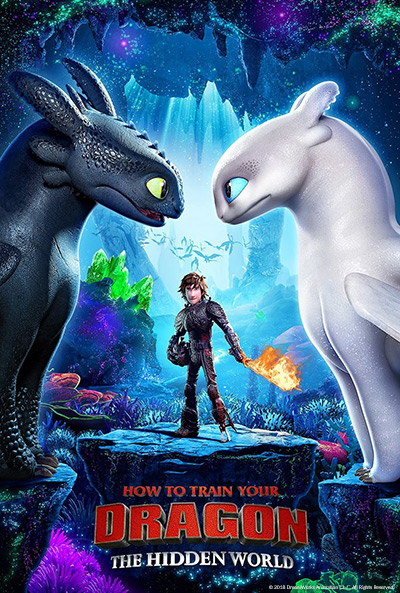 How to Train Your Dragon: The Hidden World. Movie poster